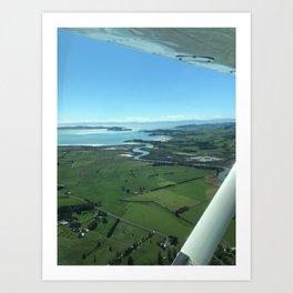 Flying over Farmland Art Print