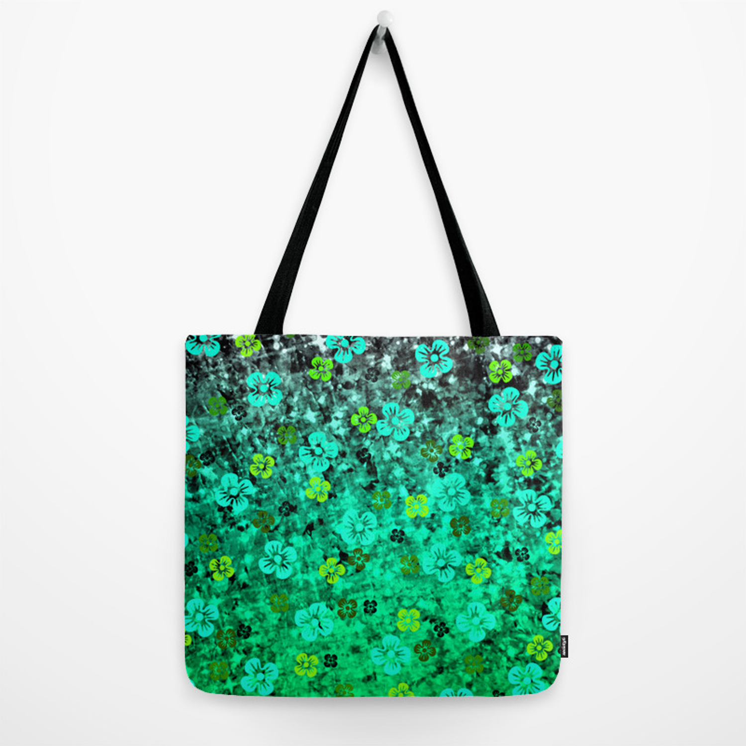 7daedfa5d LUCK OF THE IRISH Colorful Emerald Green Ombre St Patricks Day Floral  Shamrock Four Leaf Clover Art Tote Bag by ebiemporium | Society6
