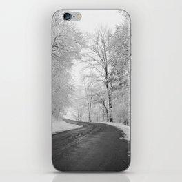 Black and White - Winter roads iPhone Skin