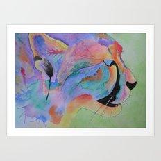 Vibrant Cheetah Art Print