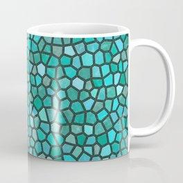 Faux Stone Mosaic in Dark Turquoise Coffee Mug