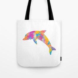 Colorful Dolphin Streetwear Graffiti Hand Drawn print Tote Bag