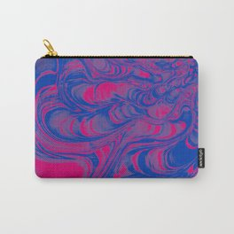 Bisexual Pride Abstract Distorted Liquid Texture Carry-All Pouch