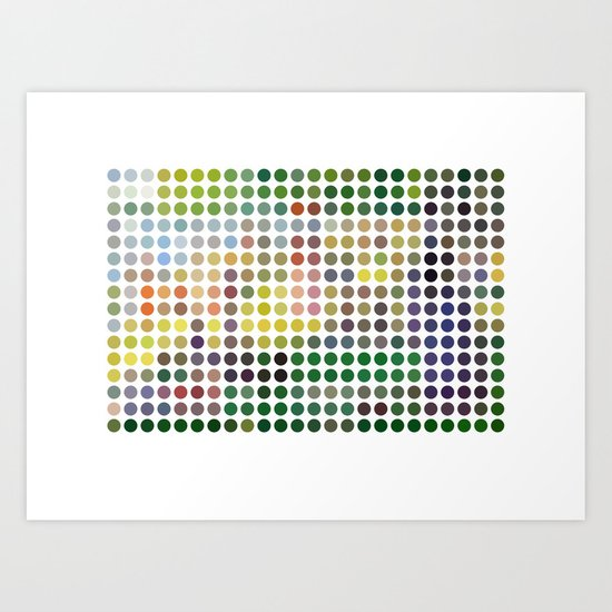 Georges Seurat Remixed (2009) Art Print
