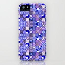 Mixed Oriental Tiles - Blue Violet iPhone Case