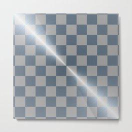 Blue Steel 8 by 8 Chess Board Metal Print