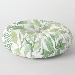 Green Tropical Leaves Floor Pillow