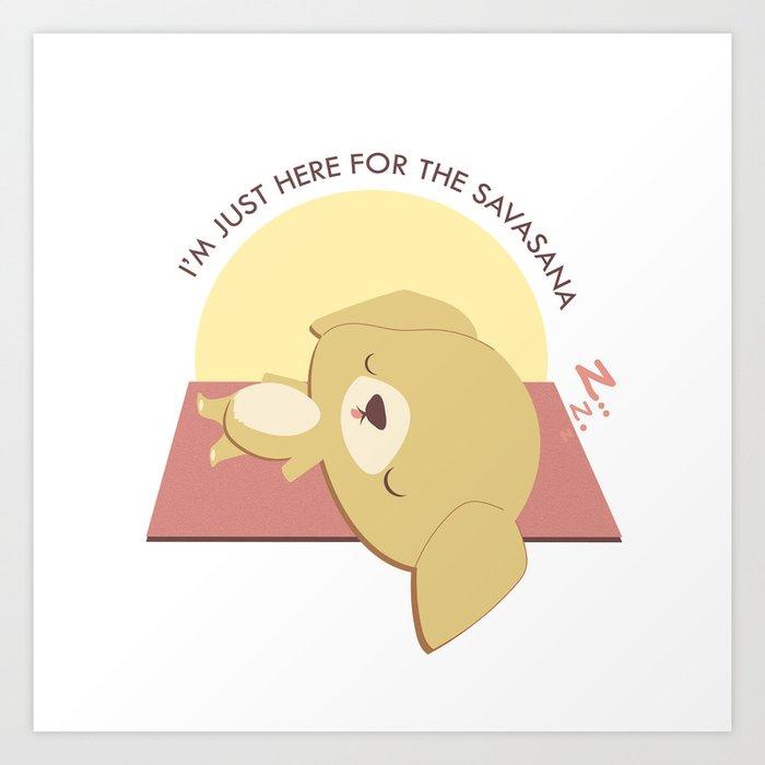 Yoga Golden Retriever Dog Art Print