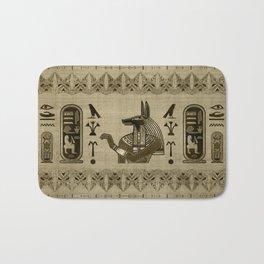 Egyptian Anubis Ornament Bath Mat