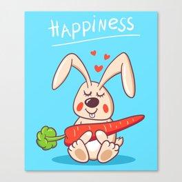 Happy bunny Canvas Print