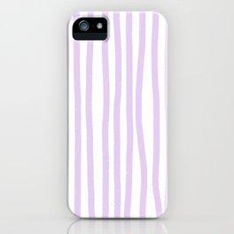 Lavender Stripes iPhone Case