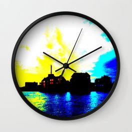 Sunset at the Lake House Wall Clock