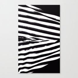 Black & White Stripes Canvas Print