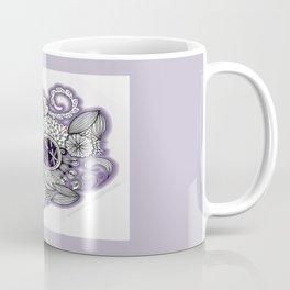 Pretty in Purple Zentangle Design Illustration Coffee Mug