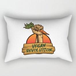 Vegan Revolution - Vegetable Riot Rectangular Pillow