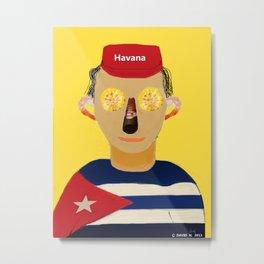 The Cuban Metal Print