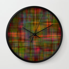 Multicolored Abstract Modern Pattern Wall Clock
