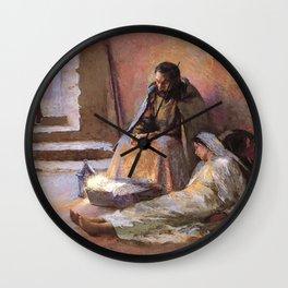 The Nativity By Gari Melchers Wall Clock
