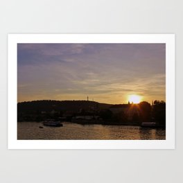 Vltava Sunset Art Print