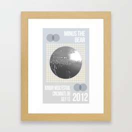 Minus The Bear Framed Art Print