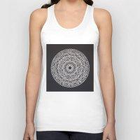 spiritual Tank Tops featuring Spiritual Mandala by msimona