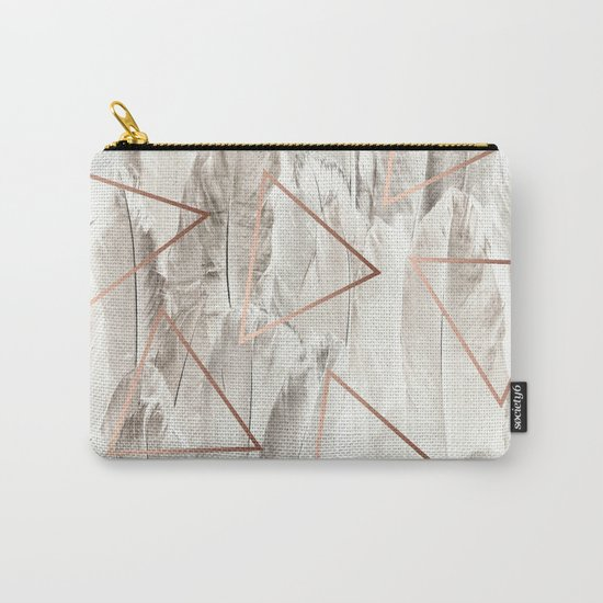 Feathers & Copper #society6 #decor #buyart Carry-All Pouch