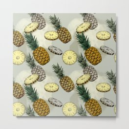 Pineapple pattern Metal Print