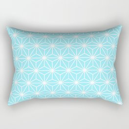 Ice Blue Geometric Flowers and Florals Isosceles Triangle Rectangular Pillow