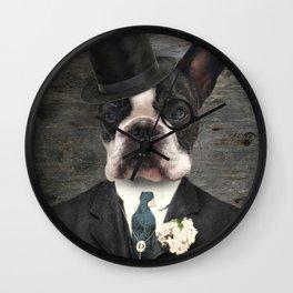 Sir Duncan - Boston Terrier Portrait Wall Clock