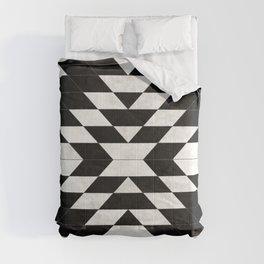 Urban Tribal Pattern No.14 - Aztec - Black Concrete Comforters
