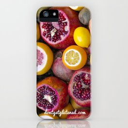 dontgetglutened fruit iPhone Case