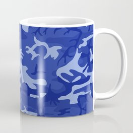 Bright Blue Camo Pattern Coffee Mug