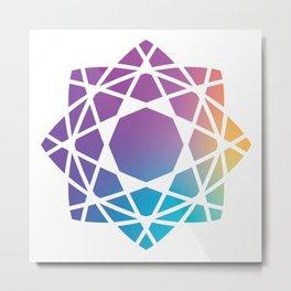 Eastern Geometry Metal Print