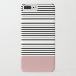 SAILOR STRIPES WITH PINK iPhone Case