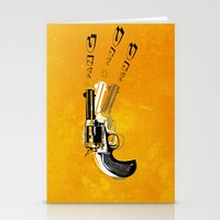 gun Stationery Cards featuring gun  by mark ashkenazi