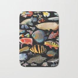 Freshwater tropical fish Bath Mat