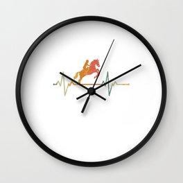Vintage Heartbeat Horse Ridding Gift Idea Wall Clock