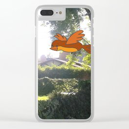 Happy Flying Clear iPhone Case
