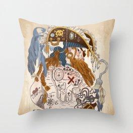 Ginger Pirate Throw Pillow