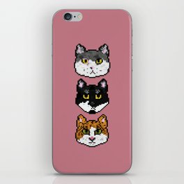 Pixel Cats iPhone Skin
