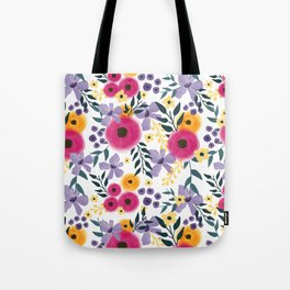 Spring Floral Bouquet Tote Bag