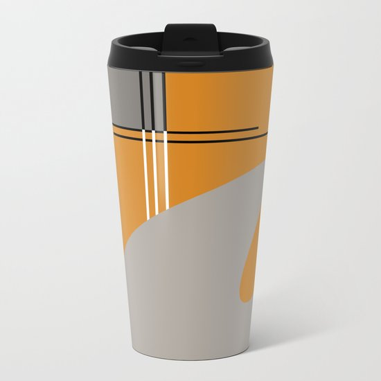 ABSTRACT IN ORANGE Metal Travel Mug