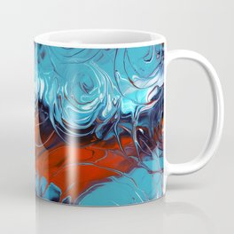 Rain drops / A Vortex of Blues red and white Coffee Mug