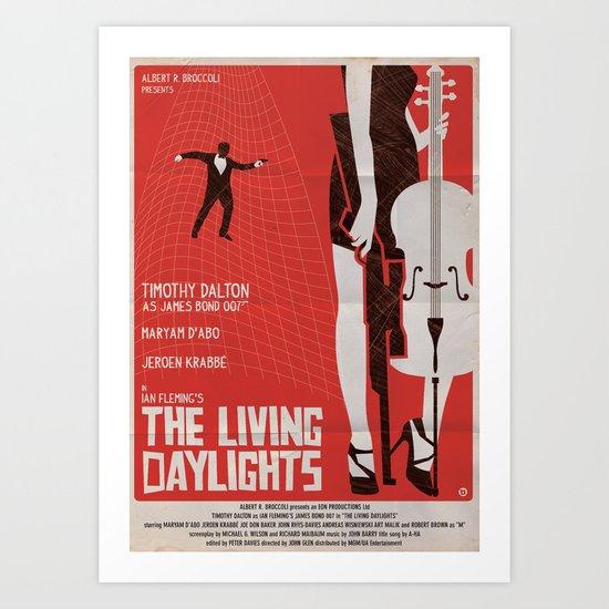 THE LIVING DAYLIGHTS Art Print