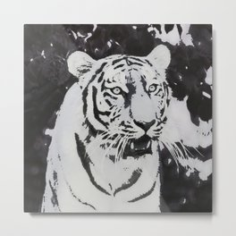 Urban Pop Art Tiger Metal Print