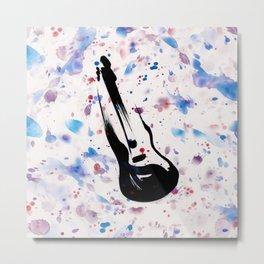 Rock n Roll Guitar No.7 by Kathy Morton Stanion Metal Print