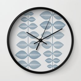 Scandinavian leaf (pale blue and light gray) Wall Clock