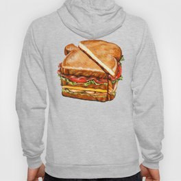 Turkey Club on White Hoody