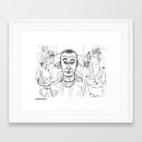 dentist Framed Art Prints featuring At the Dentist by Jonas Ericson