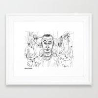 dentist Framed Art Prints featuring At the Dentist by Jonas Ericson